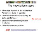 the negotiation stages