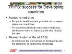 trips success for developing countries