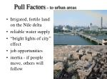 pull factors to urban areas