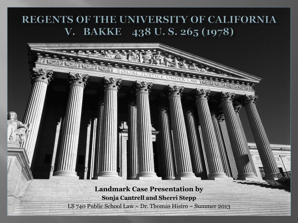 regents of the university of california vs bakke