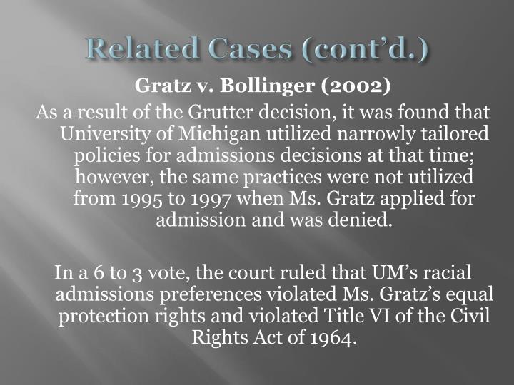 gratz vs bollinger essay