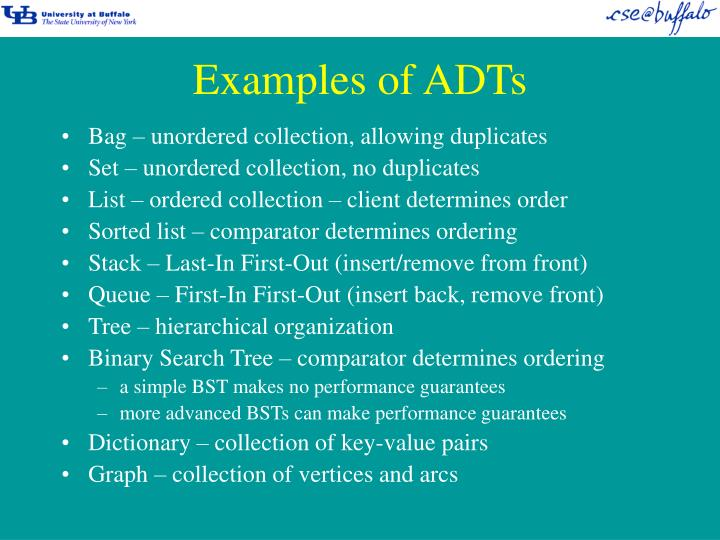 Examples of ADTs