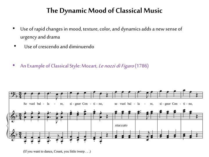The Dynamic Mood of Classical Music