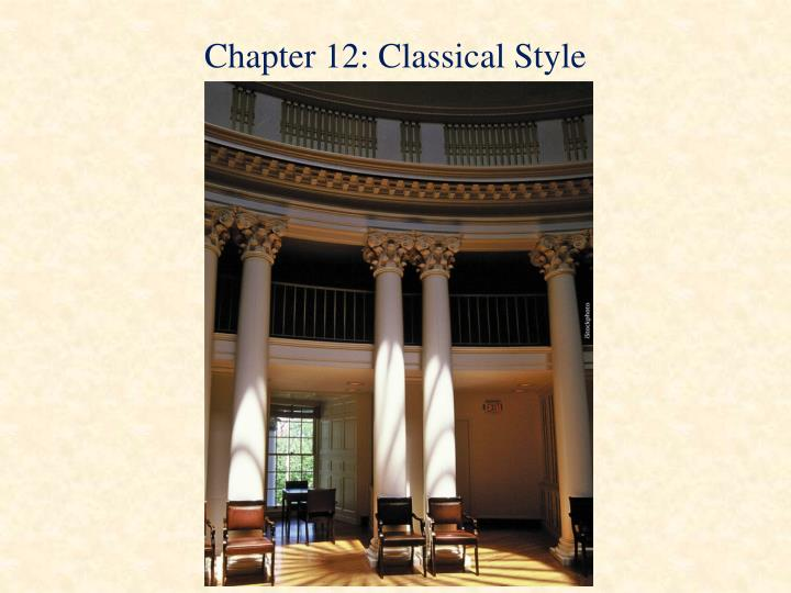 chapter 12 classical style n.