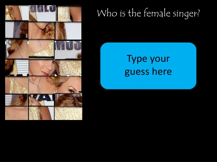 Who is the female singer?