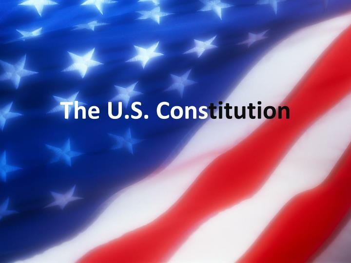 the u s cons titution n.