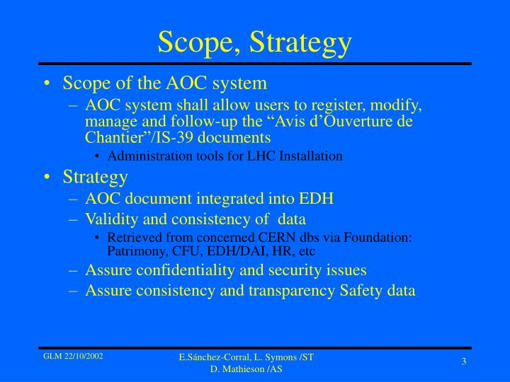 Scope strategy