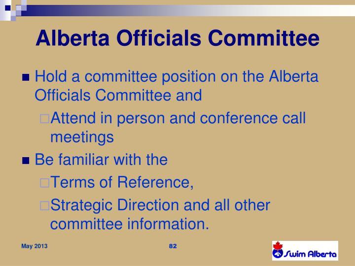 Alberta Officials Committee