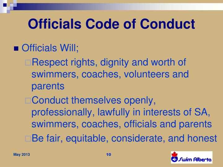 Officials Code of