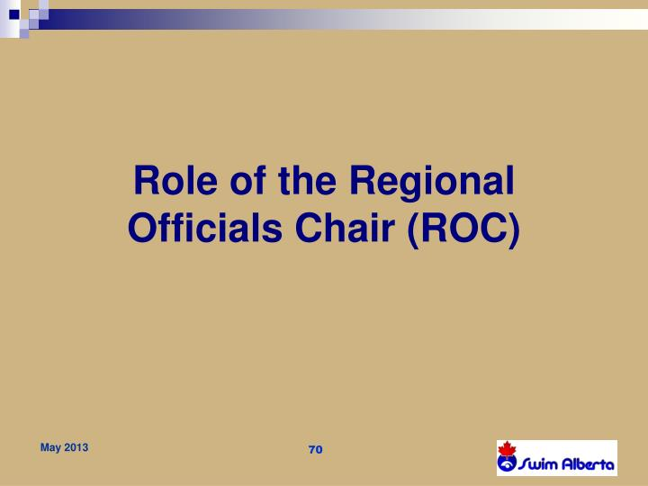 Role of the
