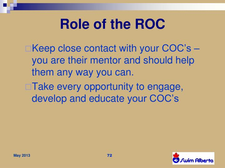 Role of the ROC
