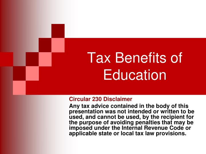 tax benefits of education n.