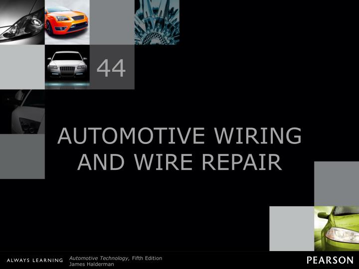 automotive wiring and wire repair n.