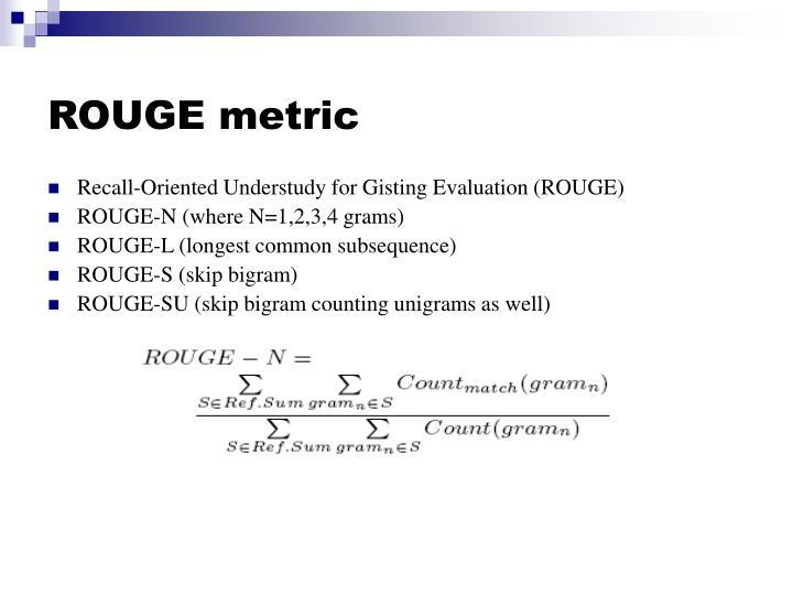 ROUGE metric