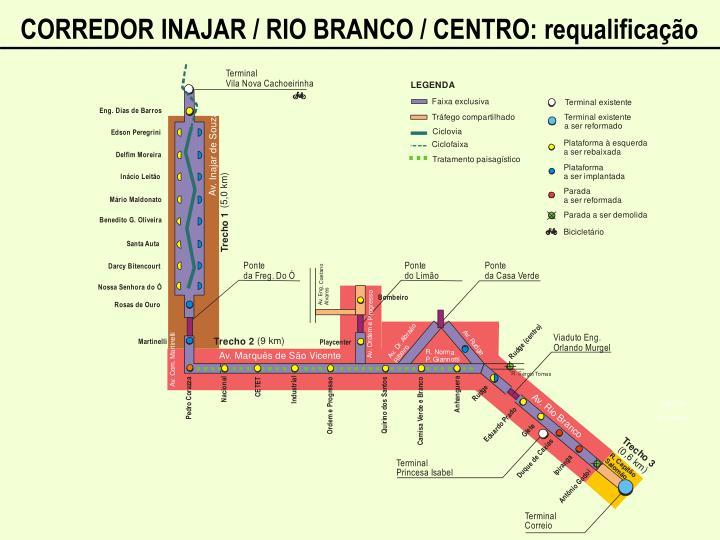 CORREDOR INAJAR / RIO BRANCO / CENTRO: requalificação