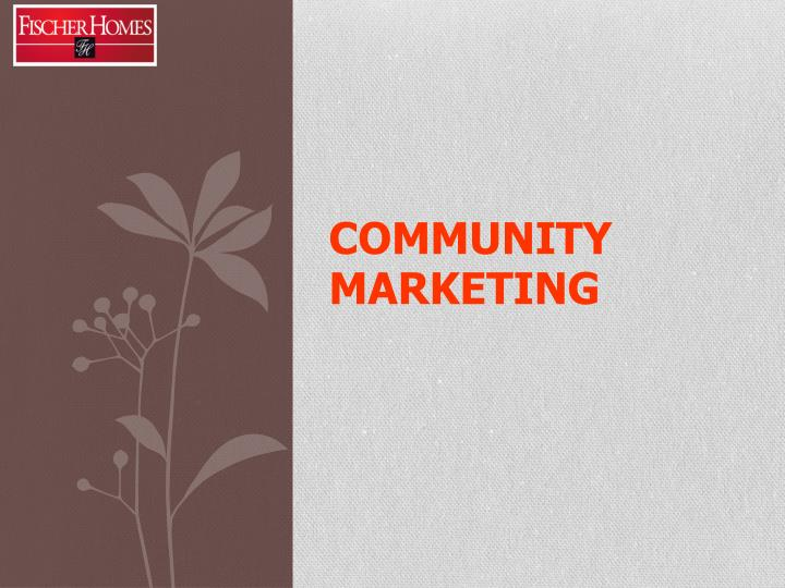 community marketing n.