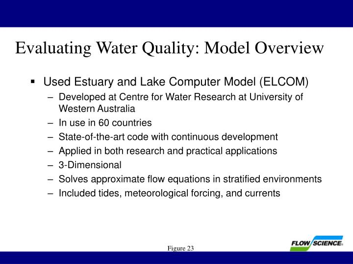 Evaluating Water Quality: Model Overview