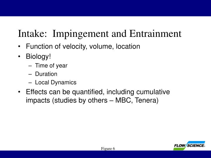 Intake:  Impingement and Entrainment