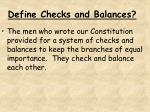 define checks and balances