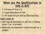 what are the qualifications to vote in ga
