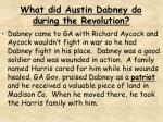what did austin dabney do during the revolution