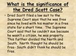 what is the significance of the dred scott case