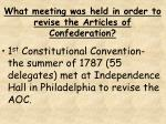 what meeting was held in order to revise the articles of confederation