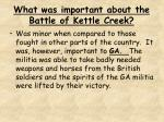 what was important about the battle of kettle creek