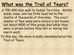 what was the trail of tears