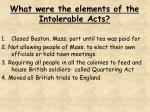 what were the elements of the intolerable acts