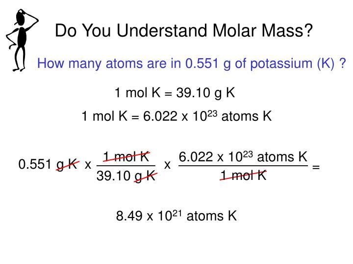 Do You Understand Molar Mass?