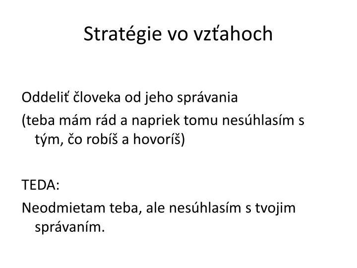 Stratégie vo vzťahoch