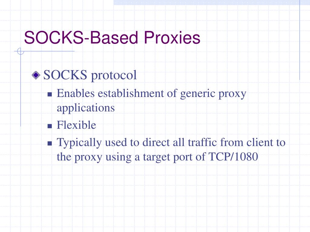 PPT - Working with Proxy Servers and Application-Level Firewalls