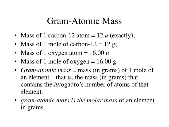Ppt stoichiometry powerpoint presentation id5435894 gram atomic mass urtaz Gallery