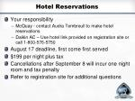 hotel reservations