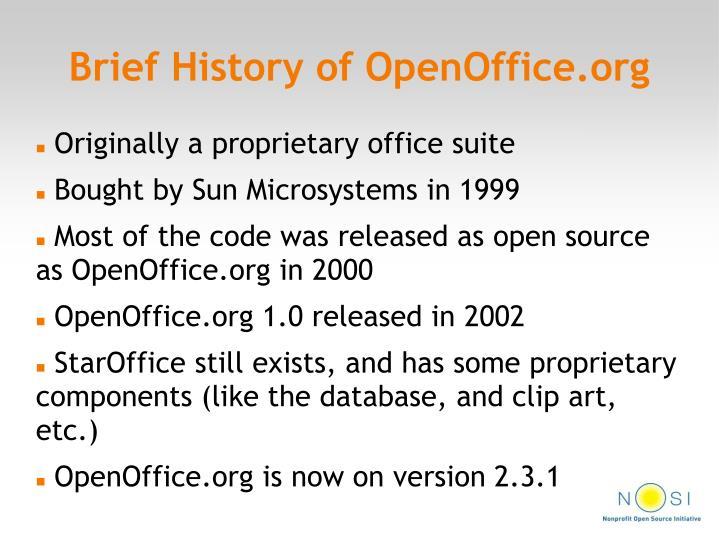 Brief History of OpenOffice.org