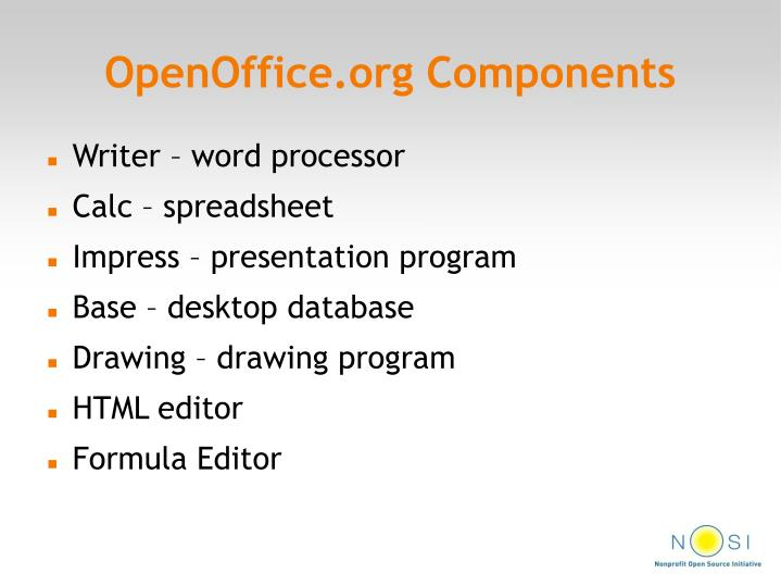 OpenOffice.org Components