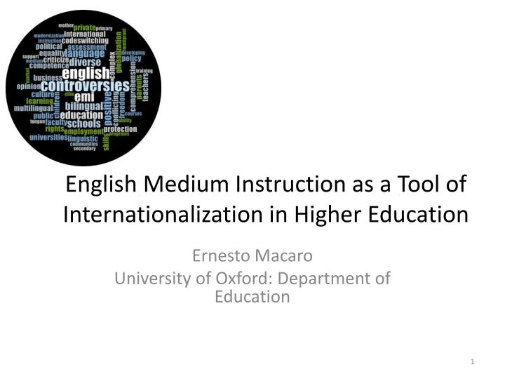 english as medium of instruction ∗ this article presents a different viewpoint to that in r h f dal ton's article with a similar title in the review for february, 1961 (132.