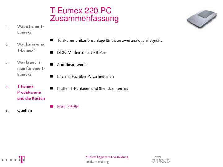 T-Eumex 220 PC