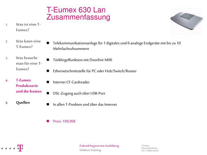 T-Eumex 630 Lan
