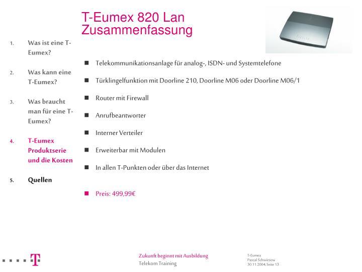T-Eumex 820 Lan