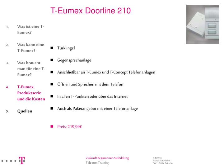 T-Eumex Doorline 210