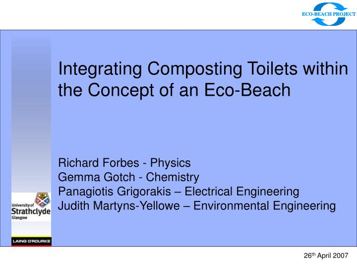 integrating composting toilets within the concept of an eco beach n.