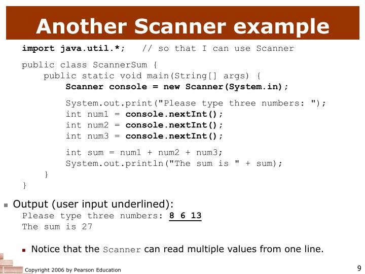 Another Scanner example