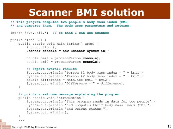 Scanner BMI solution