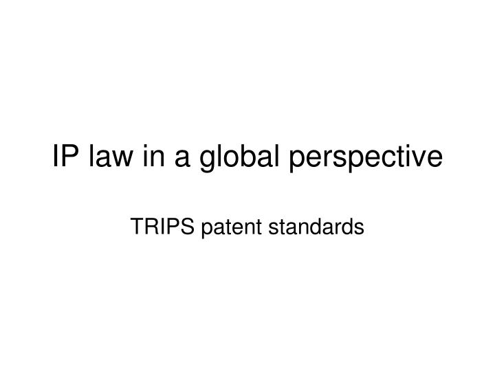 ip law in a global perspective n.