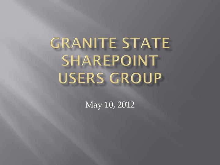 granite state sharepoint users group n.