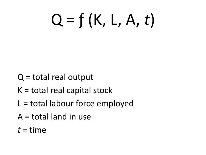 Q = total real output