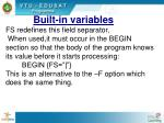 built in variables1