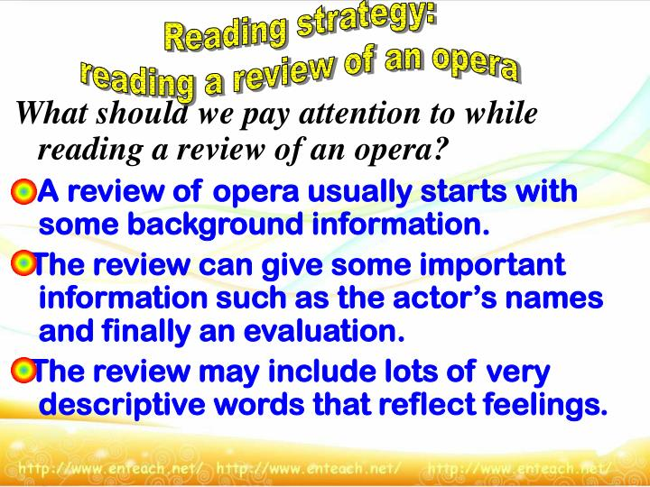 Reading strategy: